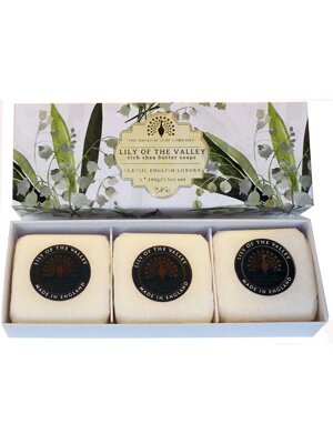 Soaps in a luxury gift box - Lily of the valley
