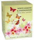 White jasmine & sandalwood -pure soy candle