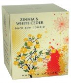 Zinnia & white cedar - pure soy candle