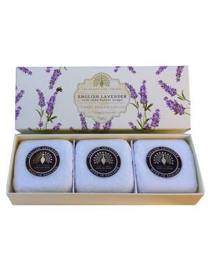 Soaps in a luxury gift box - English lavender