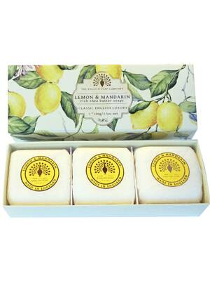 Soaps in a luxury gift box - Lemon & Mandarin