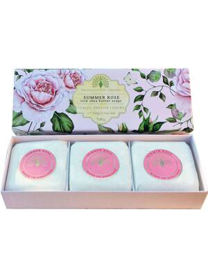 Soaps in a luxury gift box - Summer rose