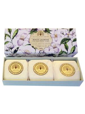 Soaps in a luxury gift box - White Jasmine & Sandalwood