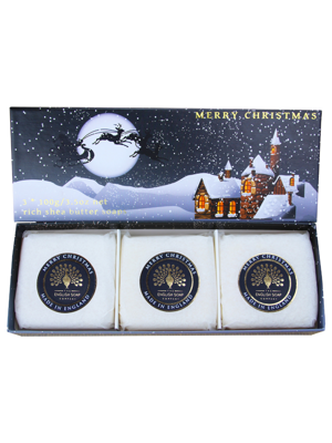 Soaps in a luxury gift box - Winter village
